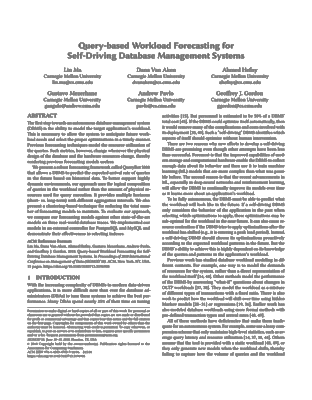 Query-based Workload Forecasting for Self-Driving Database Management Systems